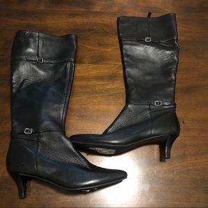 Cole Haan Elinor leather knee high dress boots